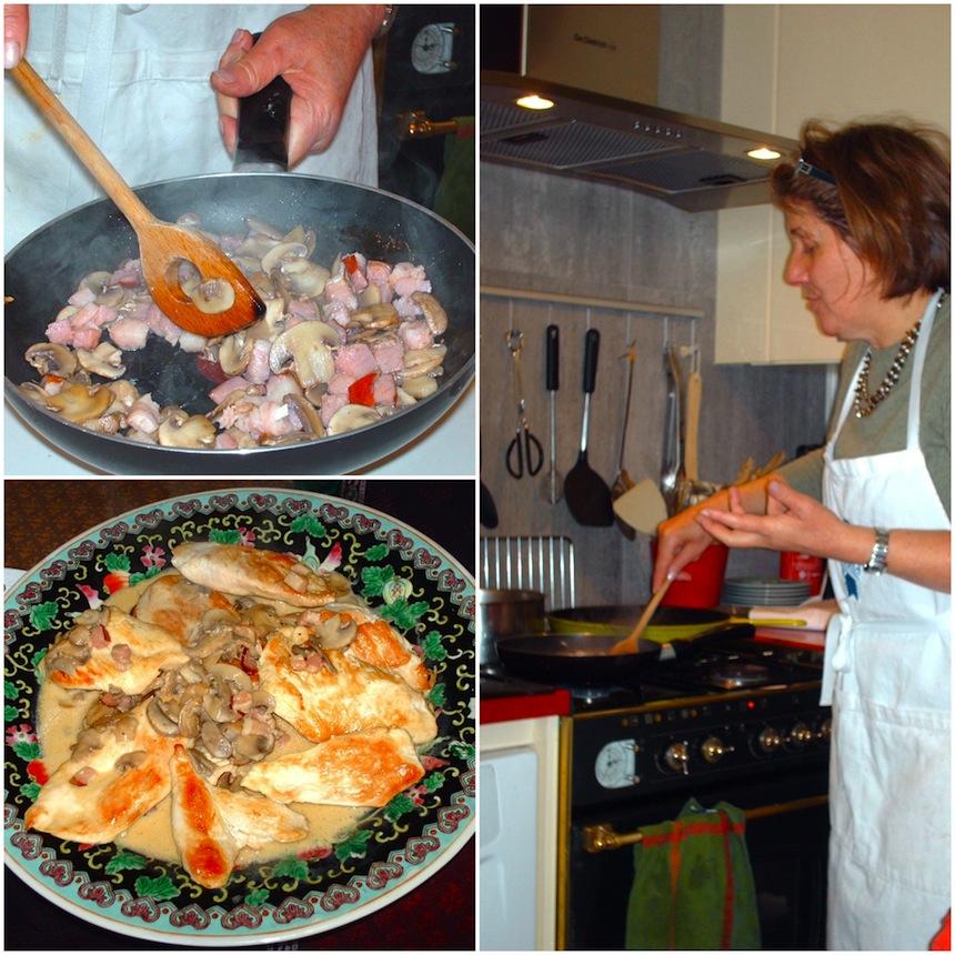 Suprêmes de Volaille aux Champignons - Chicken in Mushroom Sauce
