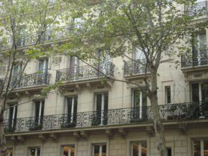 Balconies in Paris 1