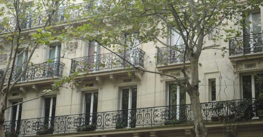 Balconies in Paris 1